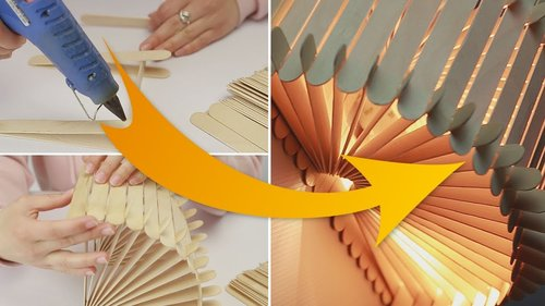 "<div class=""photoCaption"">DIY Night Lamp from Popsicle stick idea - YouTube</div>"