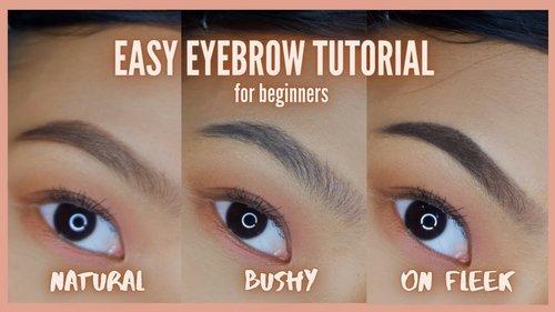 eyebrow tutorial - natural, bushy, and on fleek brows - beginner friendly - Philippines - YouTube