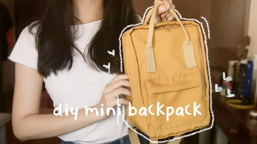 [ DIY ] KANKEN-inspired mini backpack || no sewing machine needed - YouTube