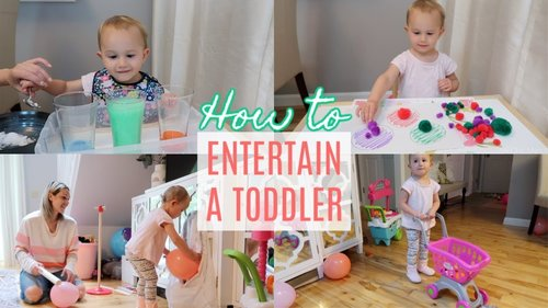 HOW TO ENTERTAIN A 2 YEAR OLD TODDLER| MONTESSORI ACTIVITIES AT HOME| Tres Chic Mama - YouTube