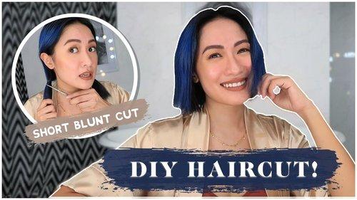How To Cut Your Own Hair! DIY Short Blunt Cut | Laureen Uy - YouTube