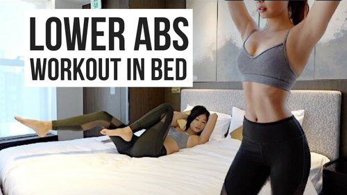 BEST 10 min Lower Ab Workout IN BED to Burn Belly Fat! ~ Emi - YouTube