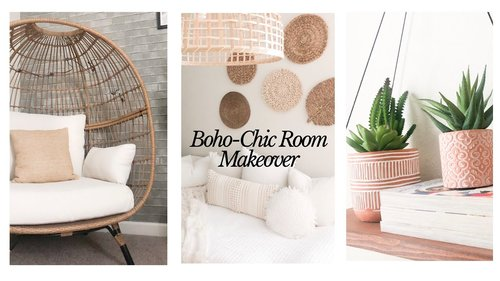 BOHO-CHIC ROOM MAKEOVER | DECORATE WITH ME - YouTube