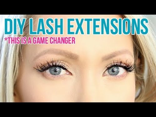 DIY Permanent Eyelash Extensions at Home! *THIS IS A GAME CHANGER!* - YouTube