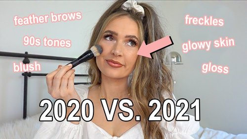 beauty trends for 2021 + get ready with me! - YouTube