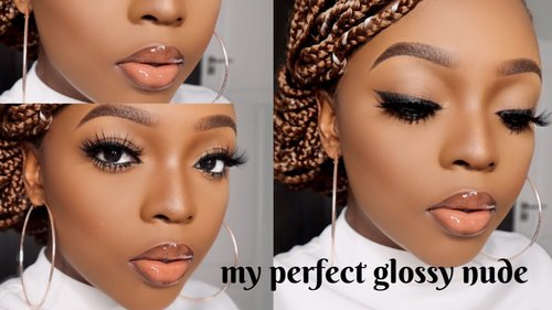 Quick Glossy Nude Lip Tutorial - YouTube