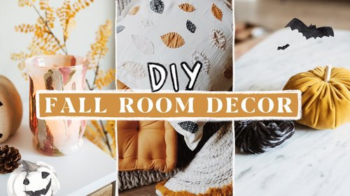 DIY Fall + Autumn Room Decor (Anthropologie Inspired) 🍂🍁🦊 - YouTube