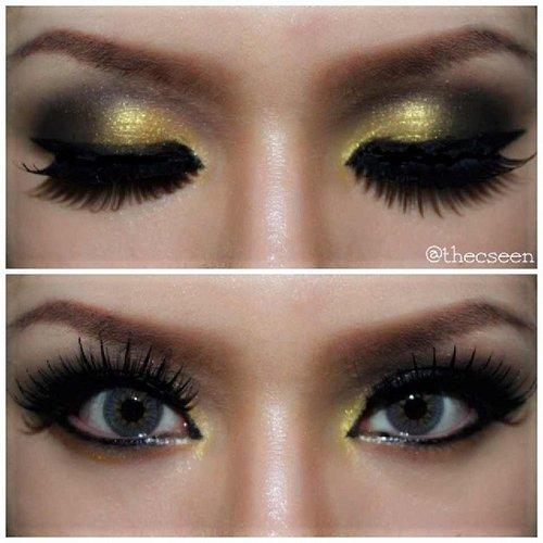 Gold makeup | @thecseen