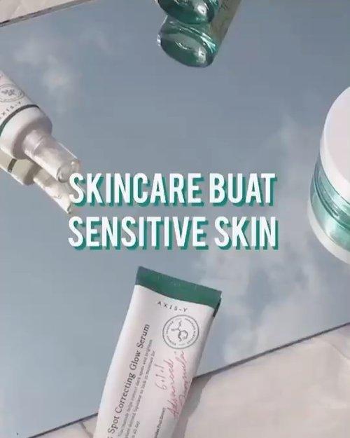 SKINCARE FOR SENSITIVE SKIN ✨  reposting here from my @tiktokofficialindonesia (ID: hi.lafs) soalnya masih banyak yang ga punya tiktok. semoga warga IG suka👋🏻  kulitku sendiri oily, sensitive & acne prone dan so far skincare-skincare ini yang udah berbulan-bulan aku setia pake dan cocok (plus 2 of them are local brands, let's support local brands!✨)         #giveaway #aesthetic #videos #makeup #tiktok #tiktokindonesia #indobeautygram #clozetteid  #tasyashoutoutfarasya #sbyglamsquad #janineintansari #cindercella #beauty #skincare