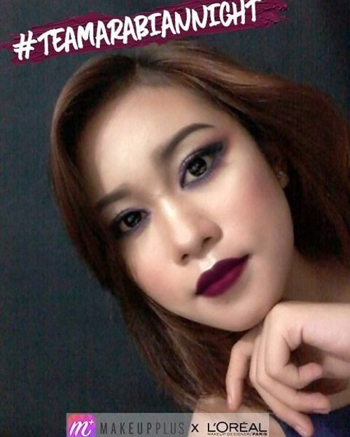 "My fav makeup Look ""Arabian Night"" from @makeupplus_id team @septrina_ 💋  Fallin' in love with this look 😍 Lets join this #mpturnoncolour  @dessydyl @deahamdan @bitterswag  #Lorealparisid #teamarabiannight #getthelook #makeupplus_id #clozetteid #clozette #makeup"