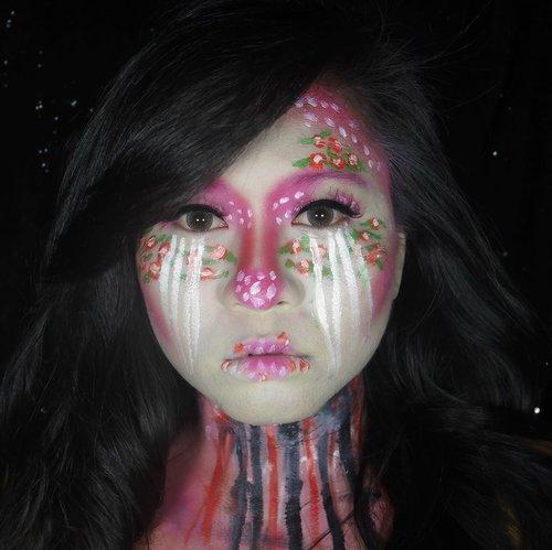 Floral Demon 🌺 Her name is Valerie, my alter ego. Y'all gonna see her in another form. But trust me, she won't bite! • • • #ClozetteID #MakeupLover #makeuplovers #makeupartist #makeupjunkie #makeupblogger #beautylover #beautyblog #mua #beautygram #beautybloggerpage #indobeautygram #indobeautyblogger #beautybloggerindonesia #BeautyBloggerIndo #inssta_makeup #makeupisart #makeuplooks #make4glam #lumixindonesia #undertheradar_makeup #tampilcantik #makeuptutorial #100daysofmakeup #sfxmakeup #demon