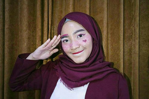 Red-White Makeup for Asian Games 2018