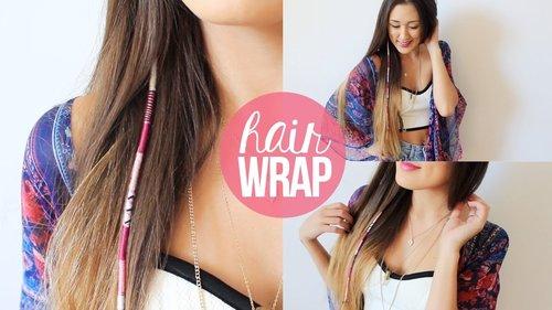 DIY: Summer Hair Wrap | LaurDIY - YouTube