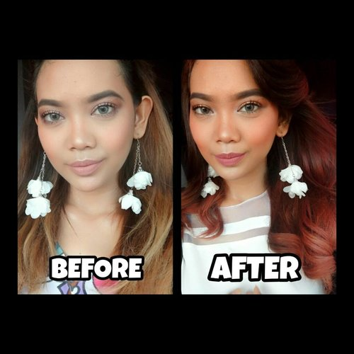 Tutorial move on: 1. Potong rambut 2. Cat rambut 3. Sukses. Make them regret. . . Ombre Merah cuma dengan cat rambut 10ribuan!! Watch the process on my channel youtube.com/JudithCholya17 . . . . . @mirandahaircare #Clozetteid #Clozetter  #Beautiesquad #bvloggerid #beautynesiamember #muajakarta #indobeautygram #instabeauty #beautyinfluencer  #reviewmakeup #indobeautyvlogger #indovidgram #beautyvlogger  #bunnyneedsmakeup  #ombre #ombrehair #catrambut #mirandahaircolor #tutorialcatrambut #ombrered #redhair #ombrehairstyle #ombretutorial #beforeafter
