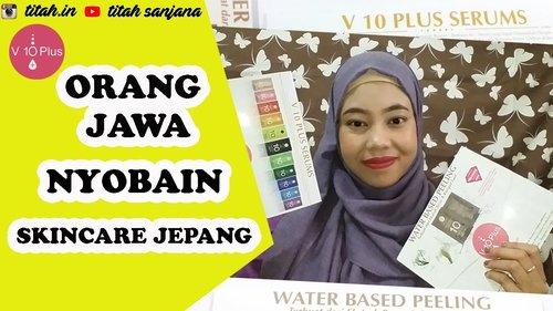 V10 PLUS INDONESIA REVIEW | PEELING & SERUM JERAWAT - YouTube