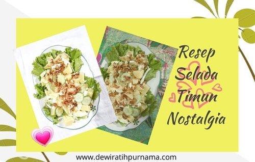 `artikel terbaru di blog Deravee mampir yaa :) klik link di bio 📲 - Resep Selada Timun 🥗  bikin yuk buat buka puasa, ada resep Es Buah Selasih juga 🍹  #clozetteid #resep #resepsalad #kuliner #foodie