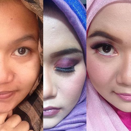 Fall makeup look by jengkennes, purple and pink before after, can u see the difference? #makeup #fallmakeup #fallmakeuplook #jengkennes #clozetteid #makeupartist #makeover #makeupbyme #makeuplover