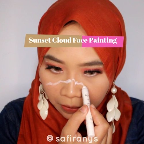 Sebenernya ga face paint-face paint amat ya, face doodle kali inimah 😂✌Sunset Cloud untuk kolaborasi #makeupwithamanda minggu kemarin!Makeup used: @nyxcosmetics_indonesia Jumbo Pencil Eyeliner Milk @nyxcosmetics Liquid Liner - White (disponsori ibu @selviaruyatus 💖💖) @focallure We Care your Favors Palette 🌤.#sunset #sunsetmakeup #facepaint #facepainting #eyeshadow #focallure #cloudmakeup #100daysofmakeup #clozetteid #orange #cloud #🌤 #tribepost #bandungbeautyvlogger #tasyashoutoutfarasya #dwiendahpusparini #sociollablogger  #undiscovered_muas #focallureeyeshadow