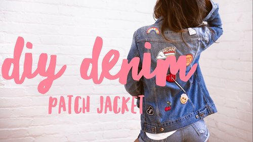 DIY PATCH DENIM JACKET - YouTube