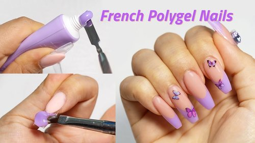 DIY French Polygel Nails for Beginners - YouTube