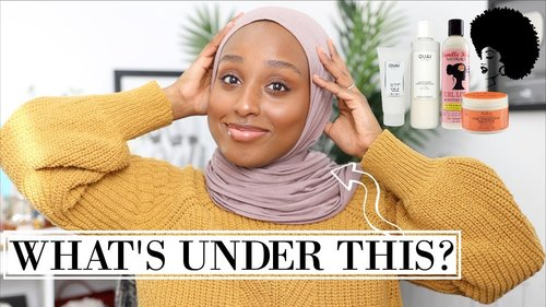 MY CURLY HAIR CARE ROUTINE & JOURNEY! ...Hijabi Edition lol | Aysha Harun - YouTube
