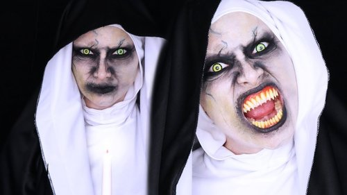 THE NUN Halloween Makeup Tutorial - YouTube