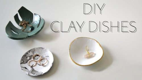 DIY Clay Dishes - YouTube