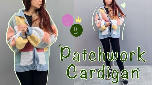 Crocheting Patchwork Cardigan | Beginner Crocheter | Harry Styles Cardigan Inspired - YouTube