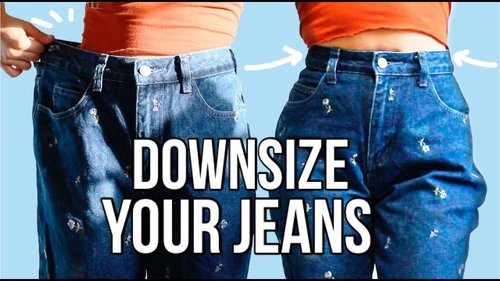 The Best Way to Downsize Jeans - DIY - YouTube