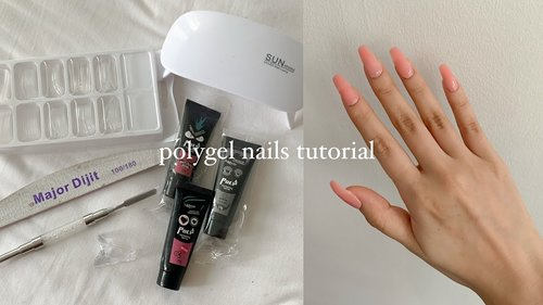 trying the polygel nail kit from shopee (below php500) - YouTube