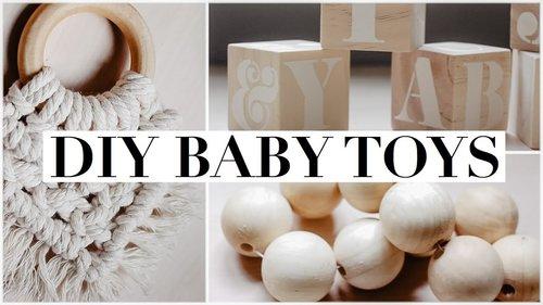 DIY Baby Toys || Natural & Non-Toxic - YouTube