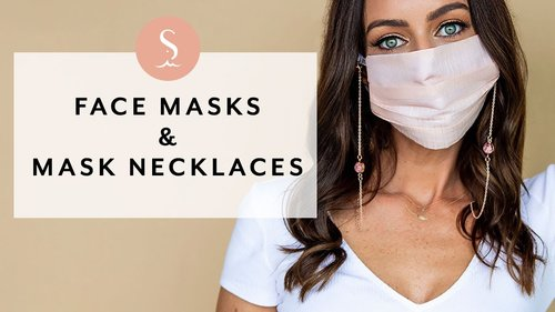 My New Face Masks & Mask Chains Collection I Sydne Summer - YouTube
