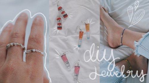 DIY tiktok inspired jewelry// dainty + stylish - YouTube