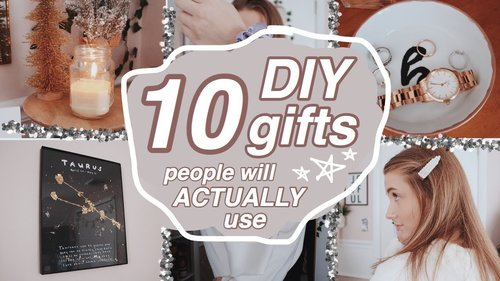 10 DIY CHRISTMAS/HOLIDAY GIFTS (that people can ACTUALLY use) - YouTube