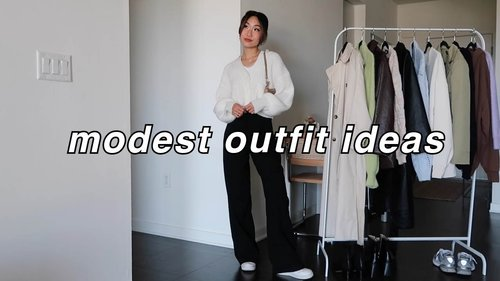 MODEST OUTFIT IDEAS 💗 | spring outfit ideas - YouTube