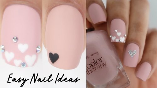 EASY Valentine's Day nail ideas! - YouTube