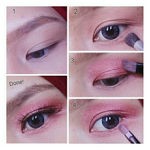 Done with easyblushed eyemakeup. have a try 😍😍😍😍😍 #blogger #newbie #girl #indonesia #woman #beautyblogger