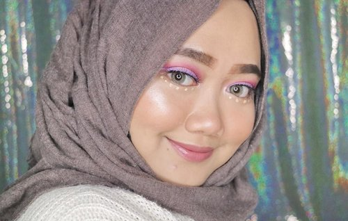 Hi👀🦄Products:- @toofaced Born This Way in Nude- @sleekmakeup Solstice Highlighting Palette- @pac_mt Glossy Lips in Nude Pink- @absolutenewyork_id Cotton Candy Liner in Sugar Plum & Lemon Drop
