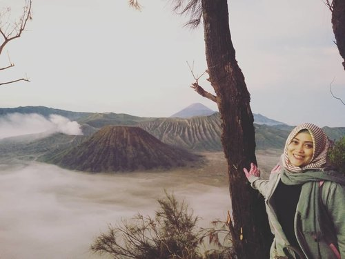 Mendadak kangen #bromomountain 💟 Semoga tahun ini bisa melihat keindahan gunung Bromo sekaligus puas-puasin traveling keliling Malang lagi. 😊 Maunya  sama keluarga sih. Ajak Darell dan Papih. Semoga ada rejeki, usia dan kesehatan ya. Aamiin 🤗😘💗 #clozetteid #travelingram #bromotenggersemeru #wishlist #throwbackthursday #indonesiaindah #hijabtraveler #andiyaniachmad #travelingwithstyle