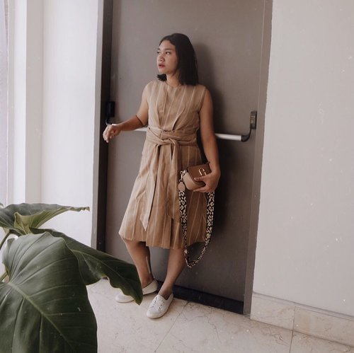 Wearing @ramuneshop latest collection on Summer Breeze. This stripes dress could be worn from AM to PM, weekdays to weekend errrrday! -  #247wardrobe  #ramune  #celliswearing  #clozetteid