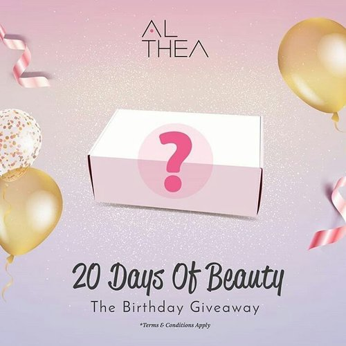 Happy birthday althea I really hope althea is always at the forefront of booming sales everywhere. On my first birthday, I have not had the chance to participate 😢😢😢, so I really hope I can celebrate my second birthday althea 😇😇😇😇😇😇. I always look forward to the new news from althea, because in addition to the wrapper is very cute. althea online store is trusted and always give discounts so, that consumers feel cared for. Anyway shopping at althea will not be sorry. Success is always @altheakorea 😘😘😘😘😘🎂🎁🎉🎊🎀🎁🎈 #AltheaTurns2 #20DaysOfBeautyDay1