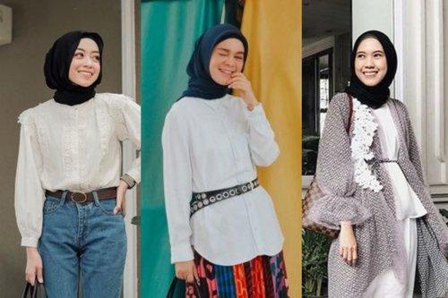 10 OOTD Hijab Dengan Atasan Putih Yang Terkesan Mewah Tapi Tidak Berlebihan