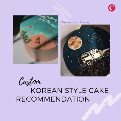 It's cake o'clock! Mengusung desain ala Korea, custom cake dari 5 local artisans ini dijamin membuat kamu nggak tega untuk memotongnya. Cake ini umumnya mempunyai desain yang minimalis dengan banyak permainan gradasi abstrak atau lukisan. Super cute!.📷 @apron.bake @keku.jkt @krav.ery @warmhour__ @patisseriebyjastine#ClozetteID #ClozetteIDVideo #KoreanCake #KoreanBirthdayCake #CustomeBirthdayCake
