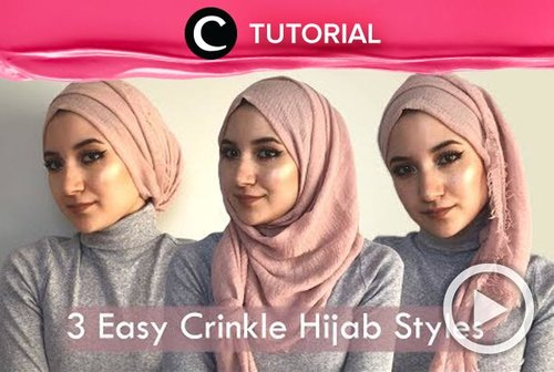 3 easy ways to style crinkle hijab: http://bit.ly/388HfTp. Video ini di-share kembali oleh Clozetter @zahirazahra. Lihat juga tutorial lainnya di Tutorial Section.