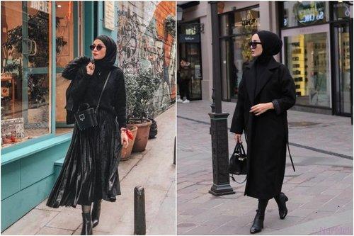 8 OOTD Hijab Serba Hitam Anti Bosan dan Bisa Buat Wajah Glowing