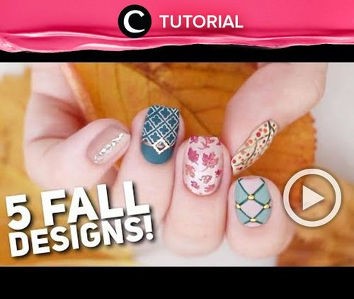 New season means new nail art! Cek di sini untuk 5 desain nail art seru untuk musim gugur : http://bit.ly/2EIOAhN . Video ini di-share kembali oleh Clozetter: @ShafiraSyahnaz. Cek Tutorial Updates lainnya pada Tutorial Section.