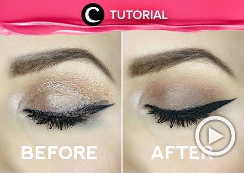 "Hayo, yang sering bermasalah dengan makeup yang ""geser"" mana suaranya? Ada tips ampuh untuk mengatasi makeup yg smudgy/transfer itu, lho. Yuk, cek di: http://bit.ly/326QWOQ. Video ini di-share kembali oleh Clozetter @shafirasyahnaz. Lihat juga tutorial lainnya di Tutorial Section."