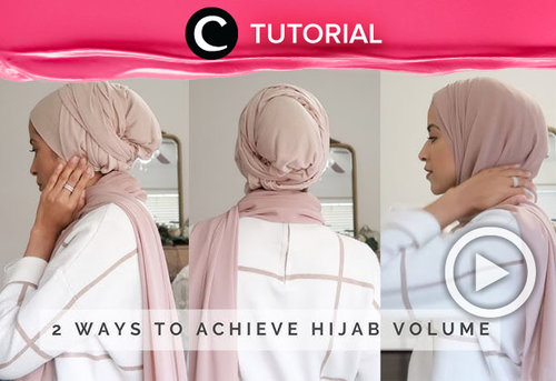Mau tahu cara untuk membuat tampilan hijab-mu lebih bervolume seperti ini? Yuk simak tutorial berikut ini : https://bit.ly/2N3Wd3R. Video ini di-share kembali oleh Clozetter @saniaalatas. Lihat juga tutorial lainnya yang ada di Tutorial Section.
