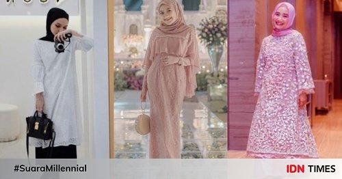 9 Style Kondangan Hijab untuk Cewek Bertubuh Mungil, Pasti Imut!