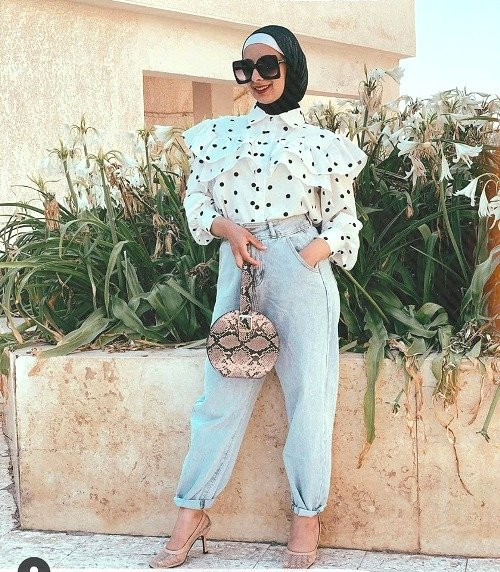 Slouchy pants styling ideas with hijab style | | Just Trendy Girls